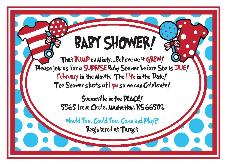 Dr Seuss Baby Shower Invitations Templates Ideas — All Invitations