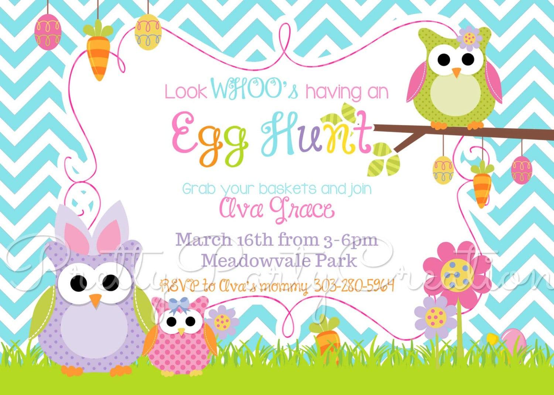 Egg Hunt Party Invitations