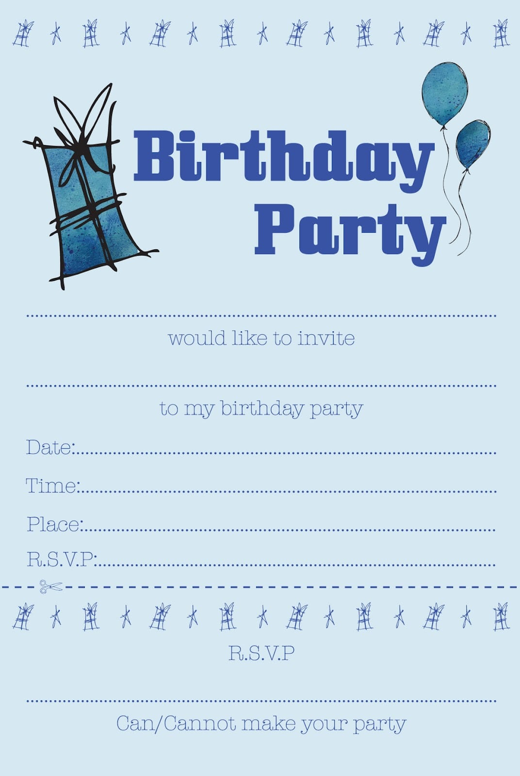 Elegant Boys Birthday Invitations Which You Need To Make Free
