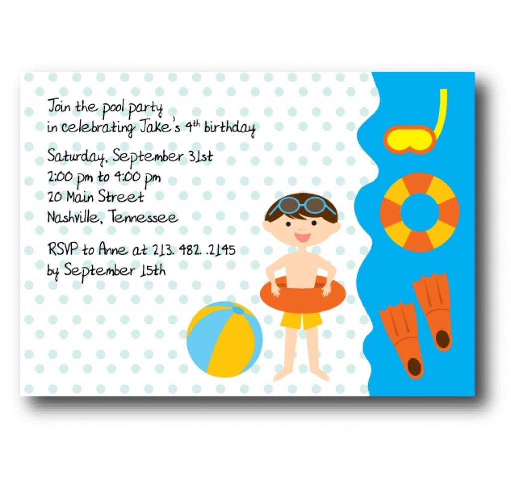 Email Birthday Invite Template