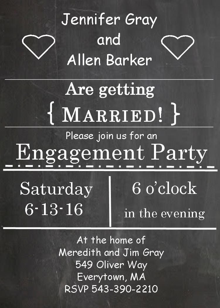 Engagement Invitations   Beach Engagement Party Invitations