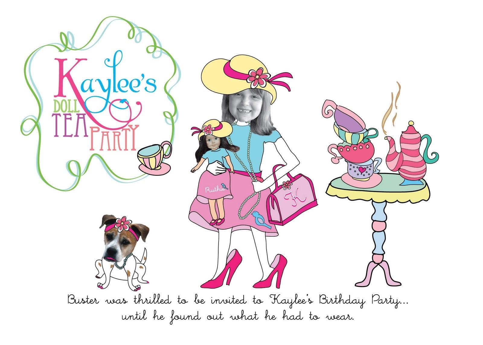 Ladies Tea Party Invitations - Mickey Mouse Invitations Templates