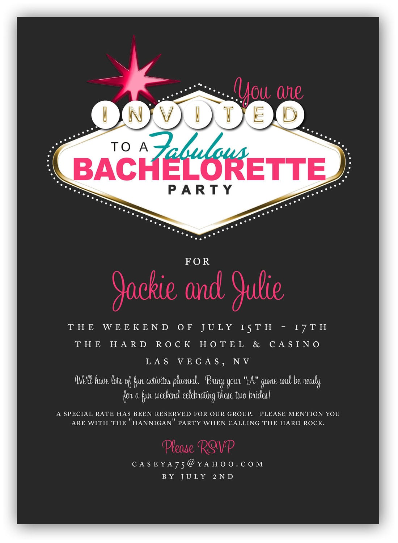 Fabulous Las Vegas Themed Party Invitation 4x6 Or 5x7