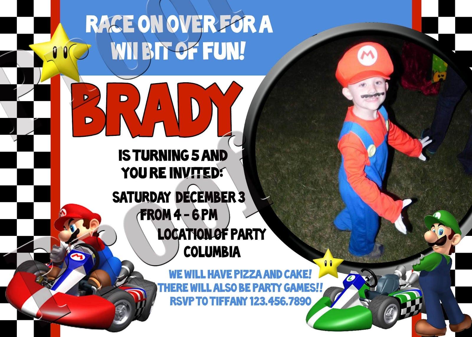 Mario Kart Party Invitations - Mickey Mouse Invitations Templates