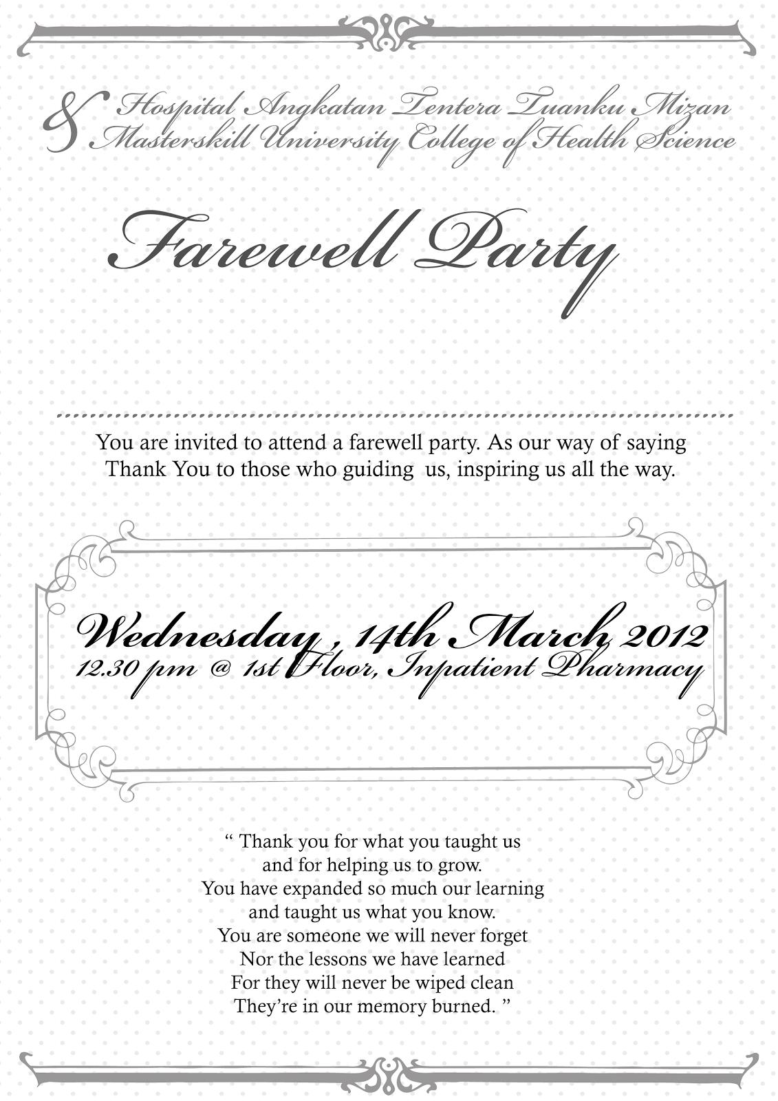 Farewell Party Invites