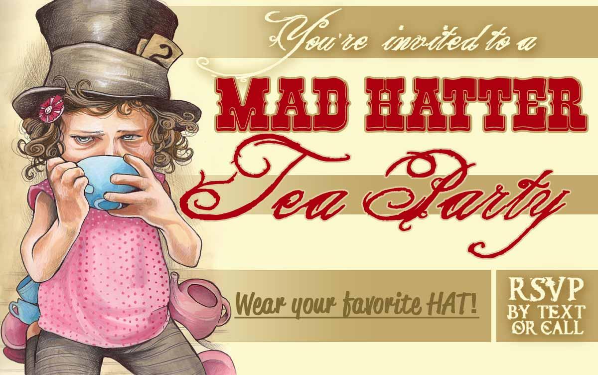 Felt Top Hats And A Wonderland Party