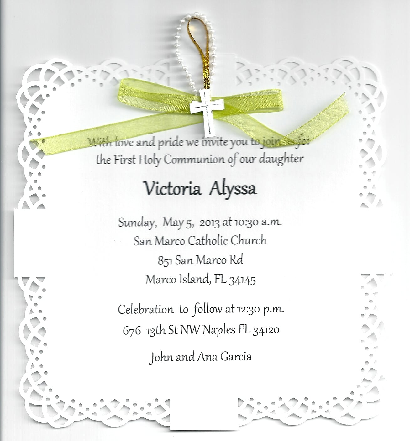 First Communion Party Invitations First Communion Party