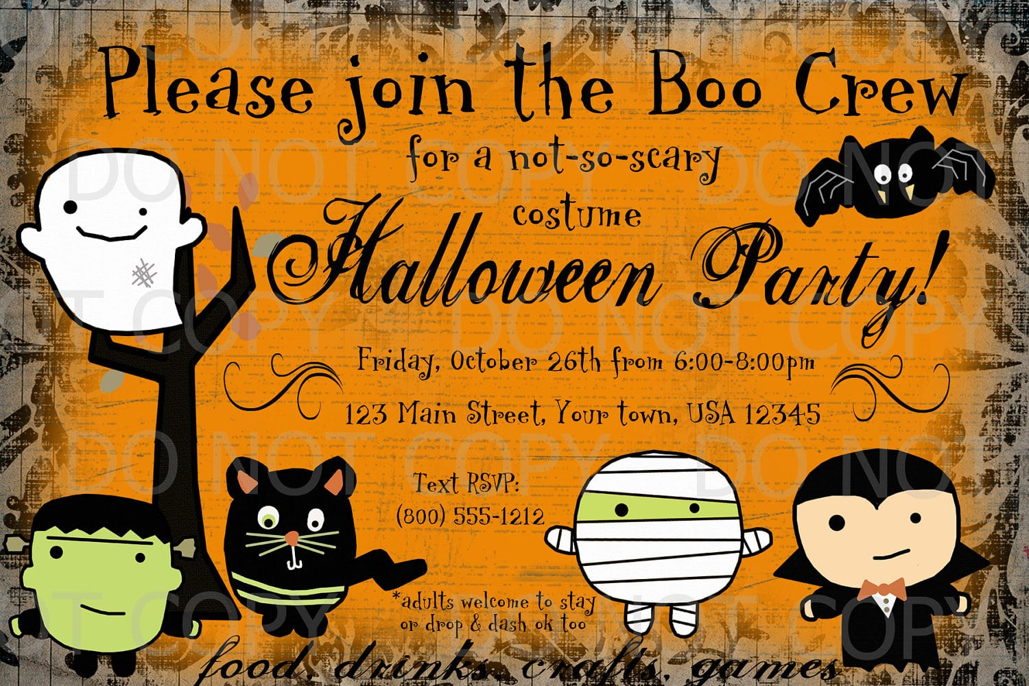 Free Halloween Party Invitation Templates Free Halloween Party