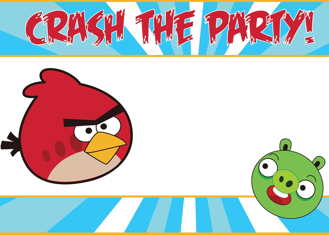 Free Printable Angry Birds Party Invitations