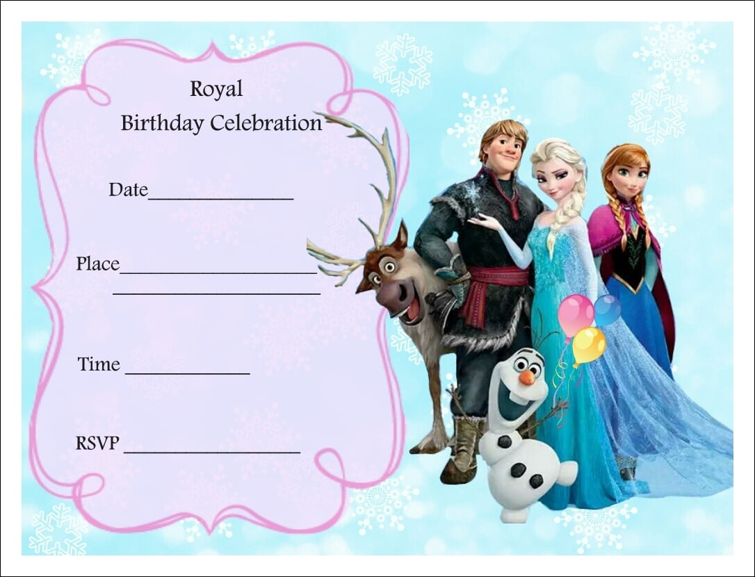 Free Printable Frozen Party Invitations