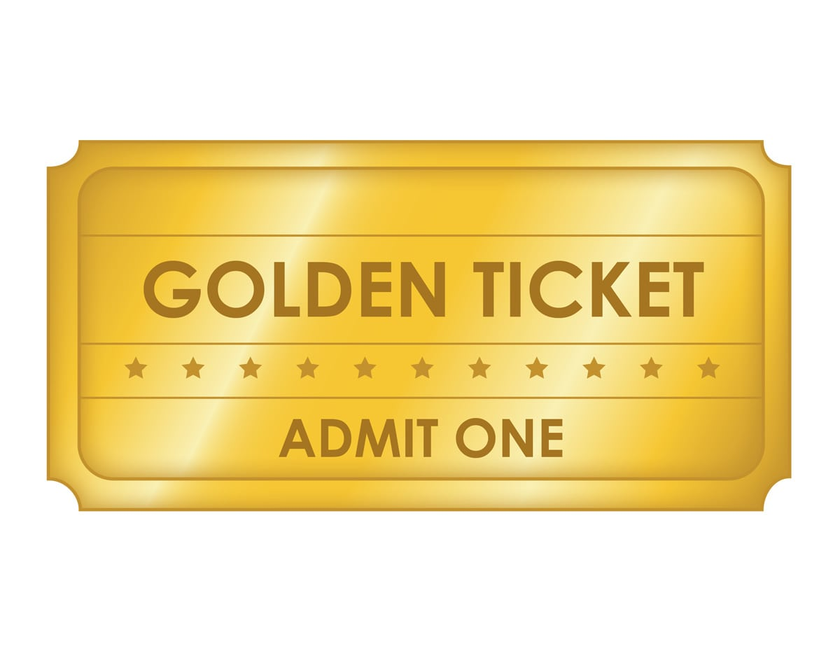 Free Printable Golden Ticket Templates