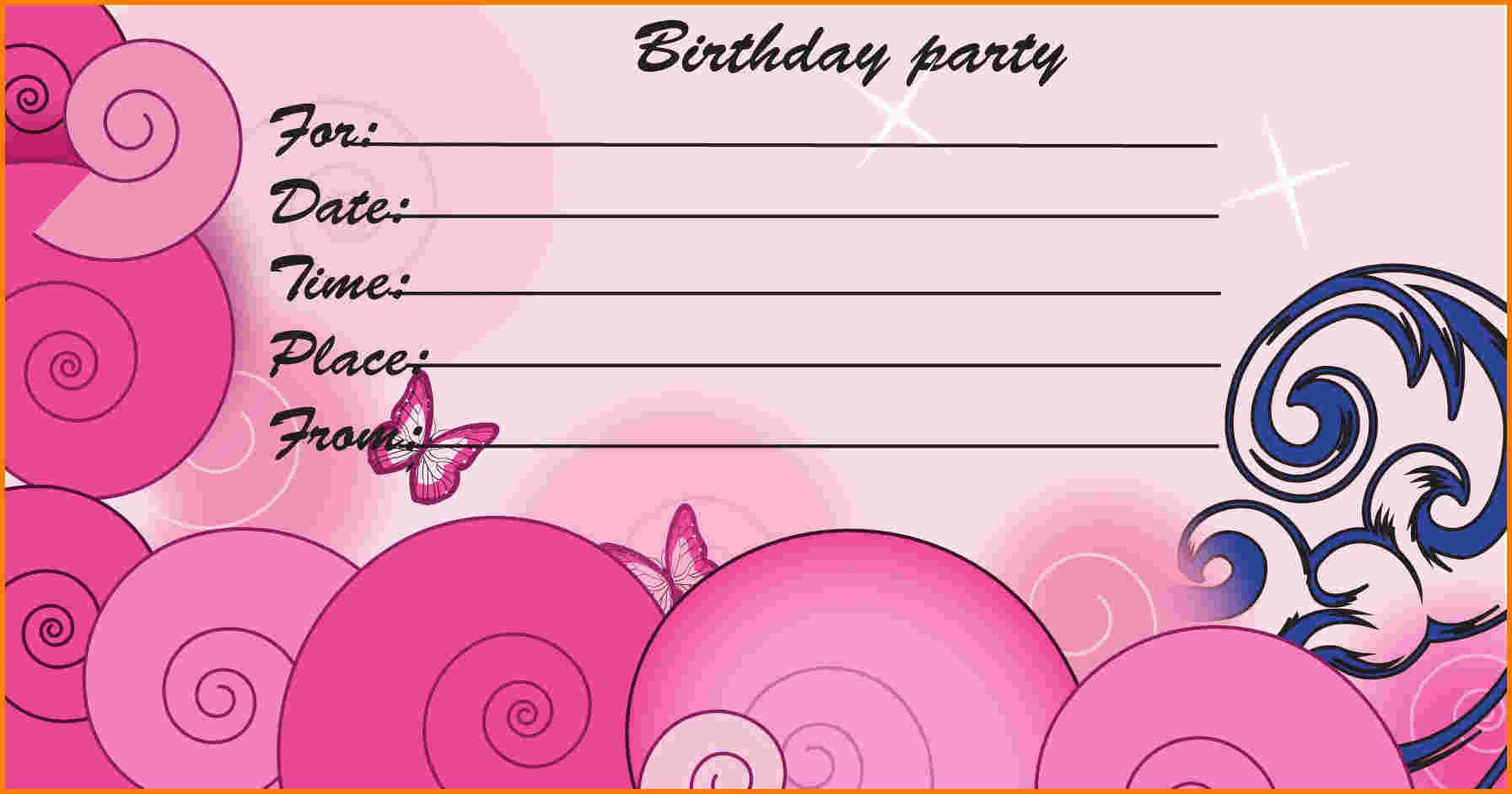 Free Printable Kids Birthday Party Invitations Templates