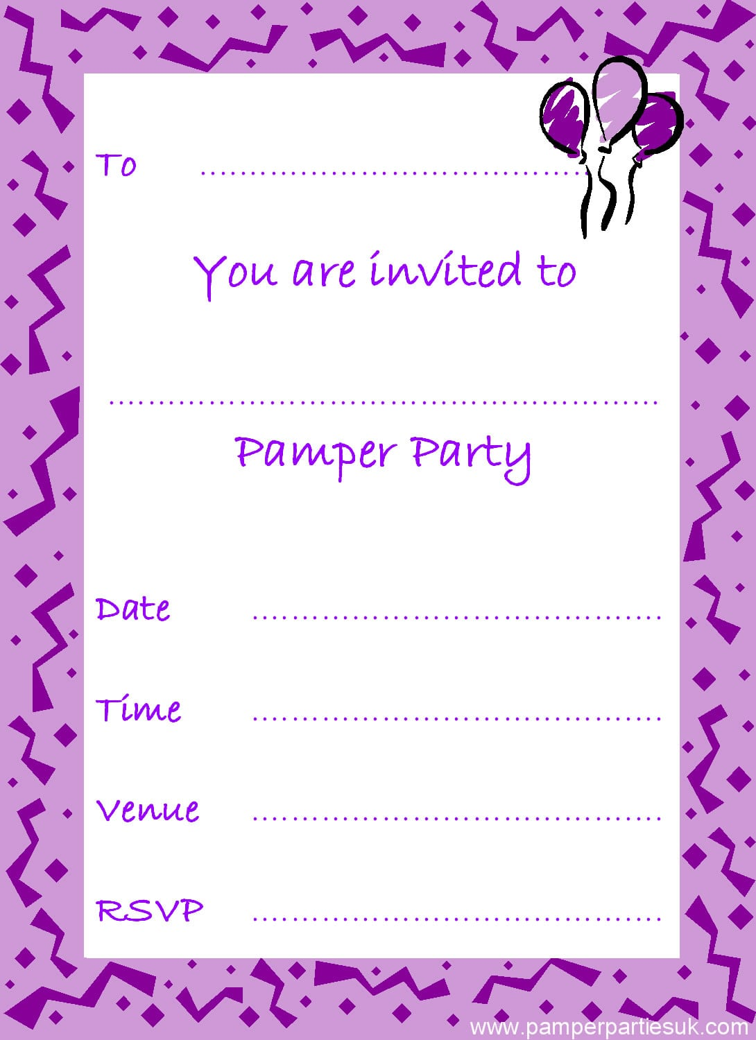 Free Printable Party Invitations Free Printable Party Invitations