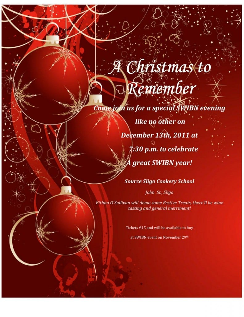 Free Templates For Holiday Party Invitation