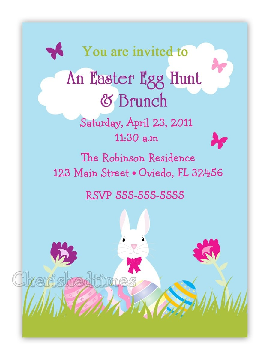 Funniest Easter Birthday Party Invitation E Card Design Idea With