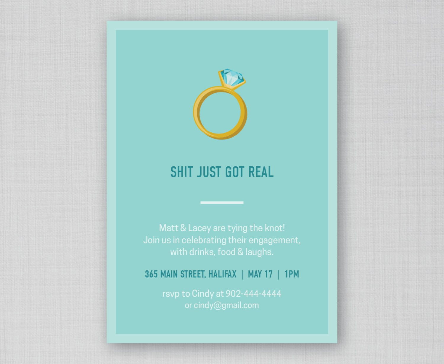 Funny Engagement Party Invitation Funny Bridal Shower