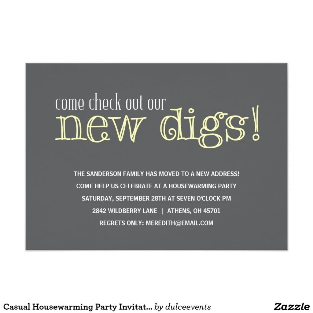 Funny Housewarming Party Invitation Wording
