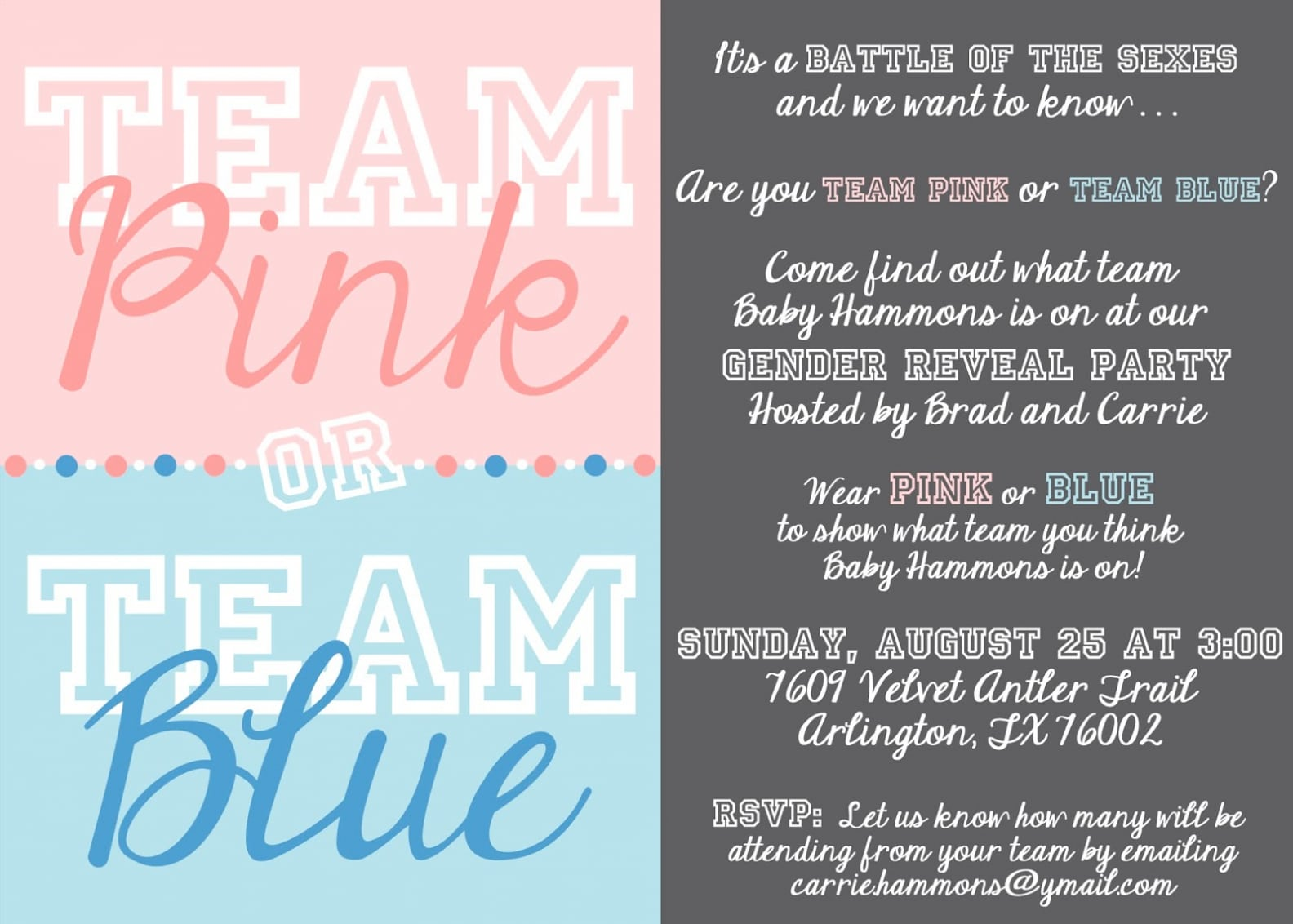 Gender Reveal Party Invitations Gender Reveal Party Invitations By