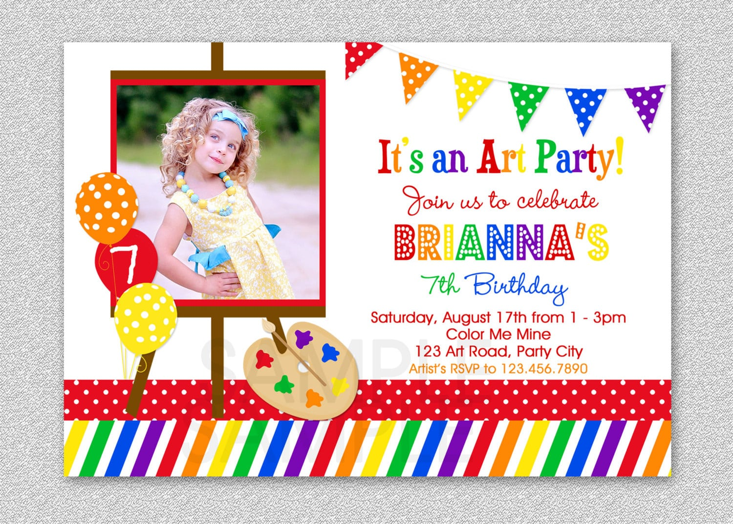 Get Art Birthday Party Invitations For Your Kids Download This
