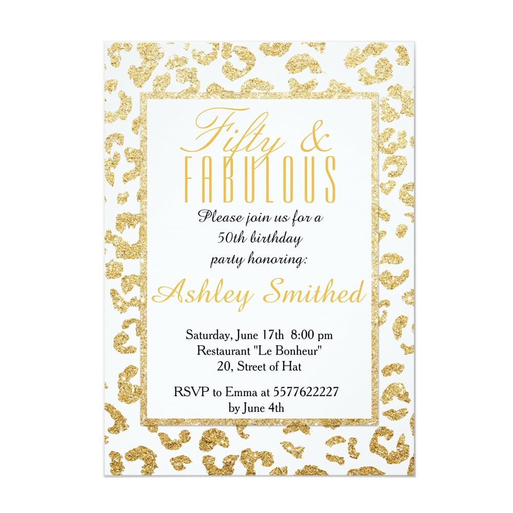 Girly Party Invitations