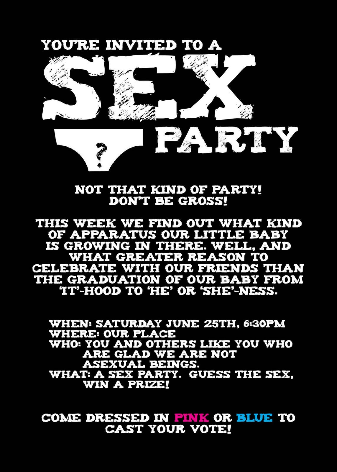 Adult Toy Party Invitations