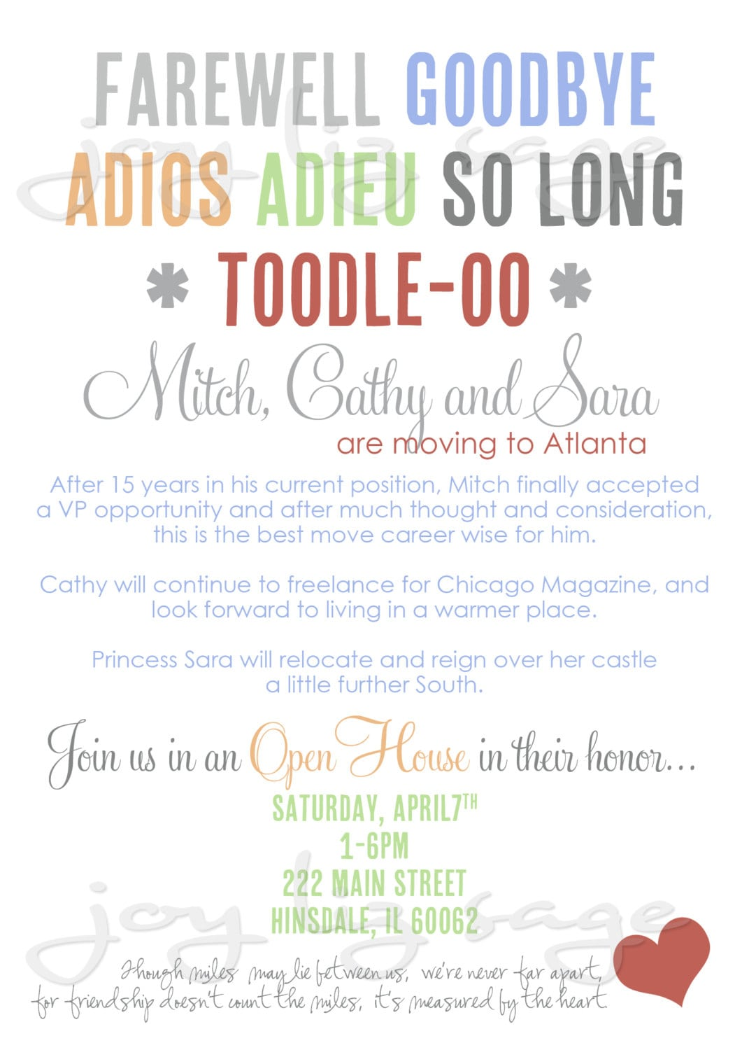 Going Away Party Flyer Template