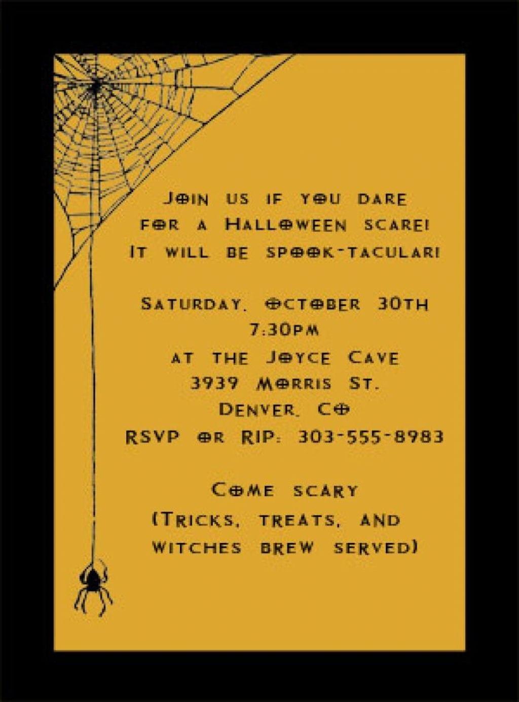 Halloween ~ Print Halloween Party Invitationse Wording Ideas
