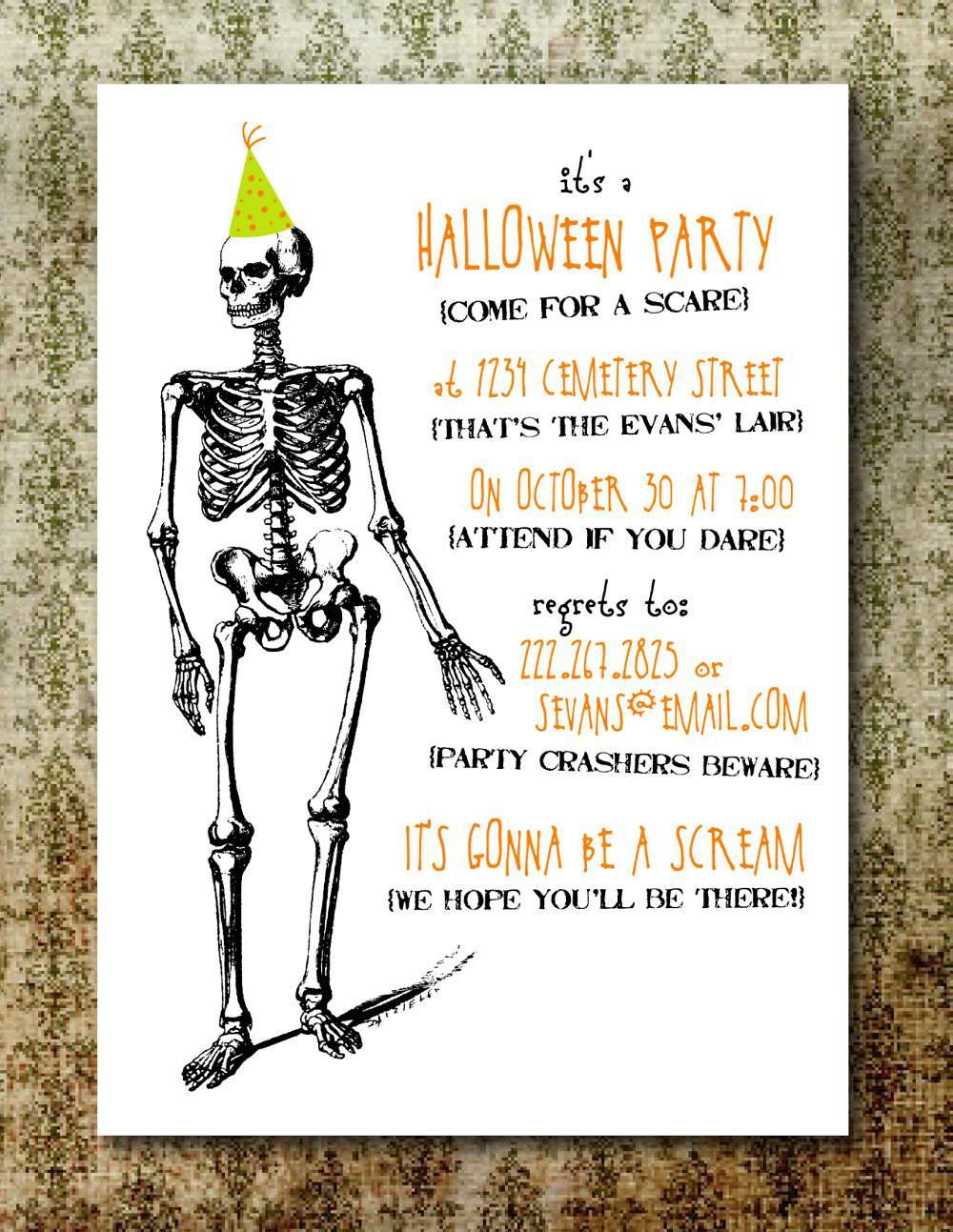 Halloween ~ Tremendous Halloween Invitation Ideas Party For