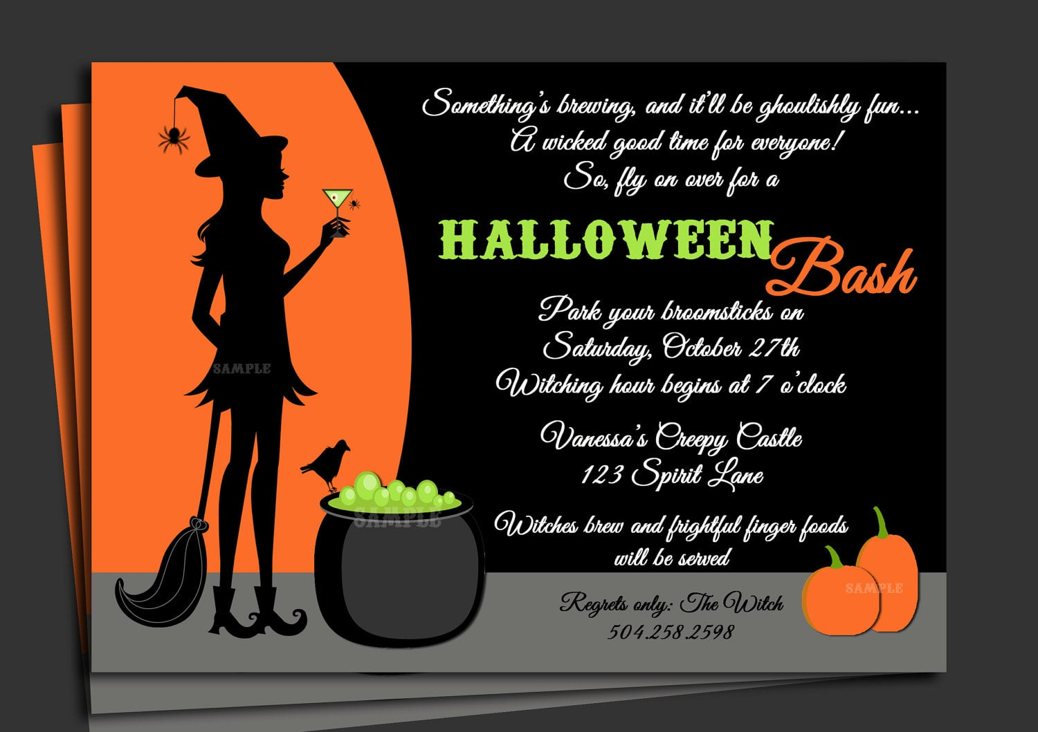 Halloween Invitation Printable With Free Shipping Cocktails
