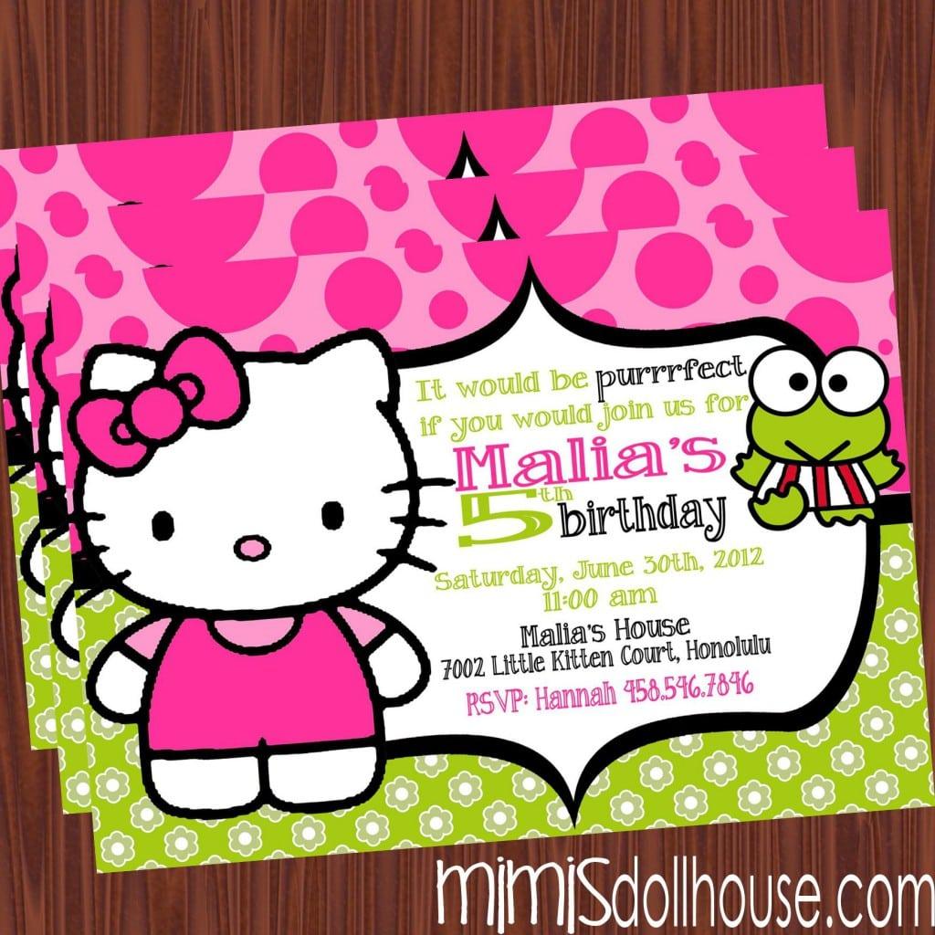 Hello Kitty Party Invitation