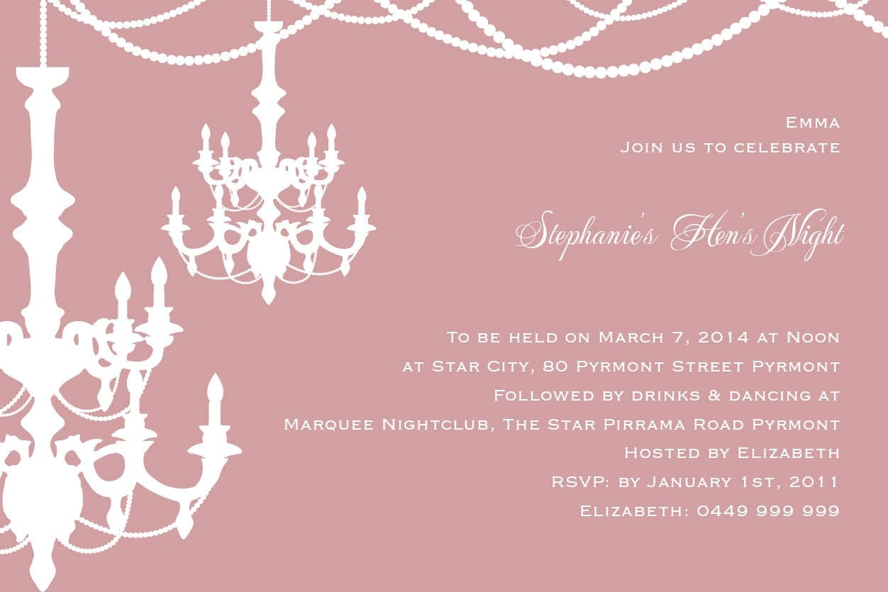 Hen Party Invitation Wording Image Collections