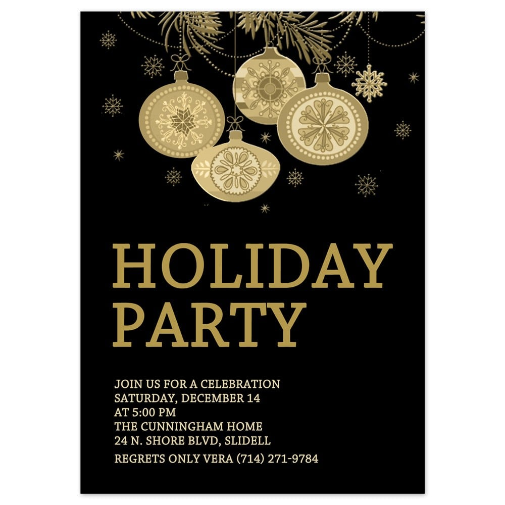 Holiday Party Invitation Template Holiday Party Invitation
