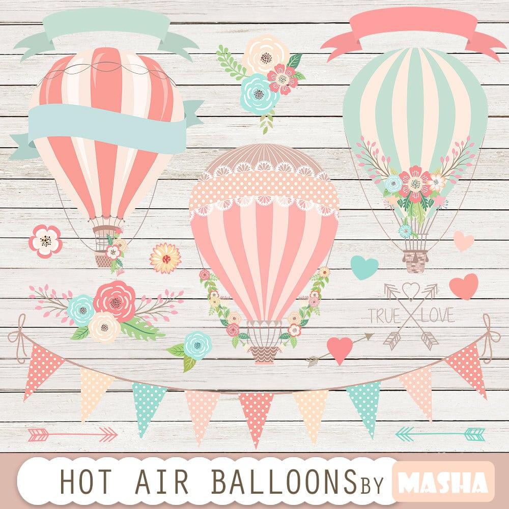 Hot Air Balloons Clip Art  Hot Air Balloon Clipart