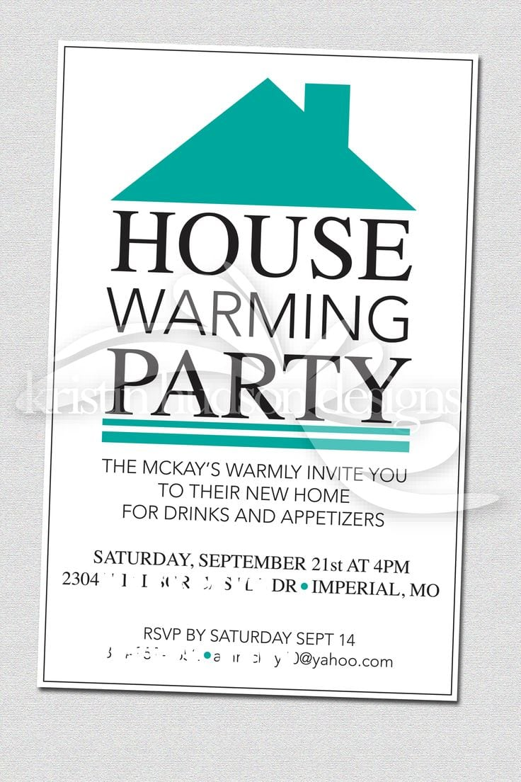 Housewarming Party Invite Template