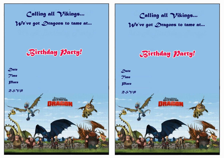 How To Train Your Dragon Birthday Invitations – Birthday Printable