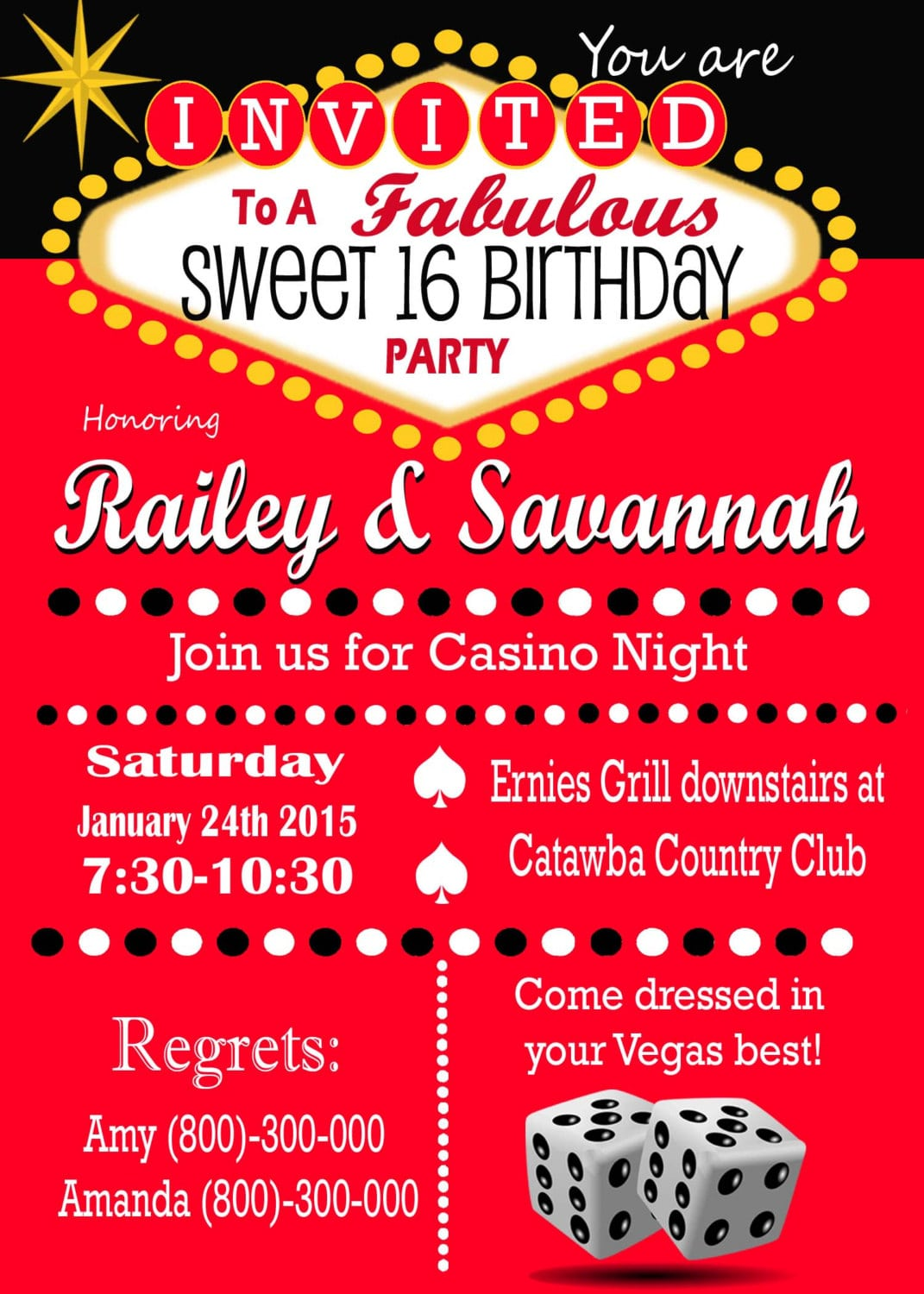 Image Result For Casino Theme Party Invitation