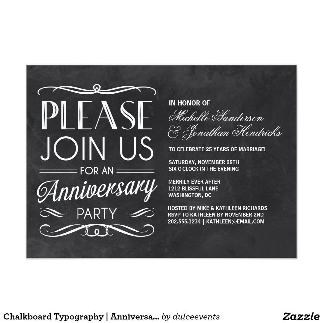 Invitation For Anniversary Party Image Collections