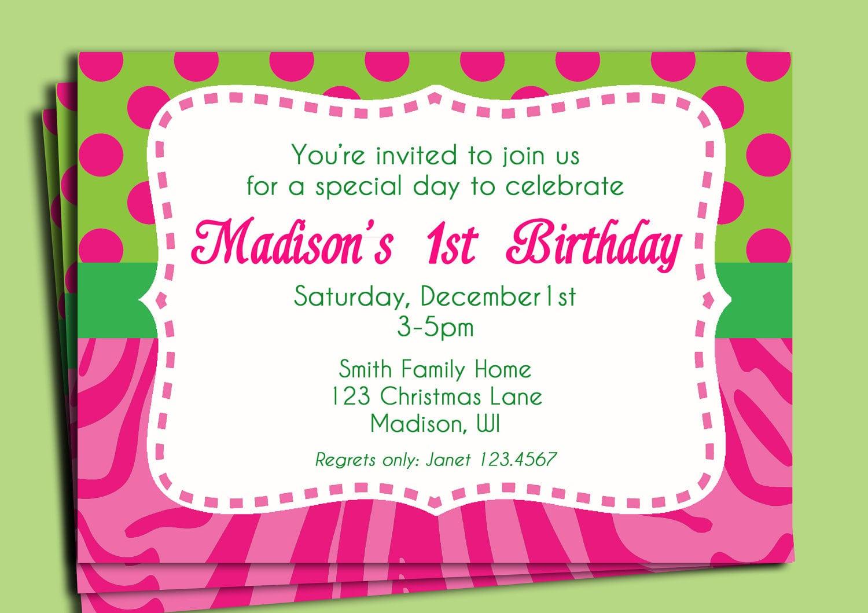 Invitation To A Birthday Party Text