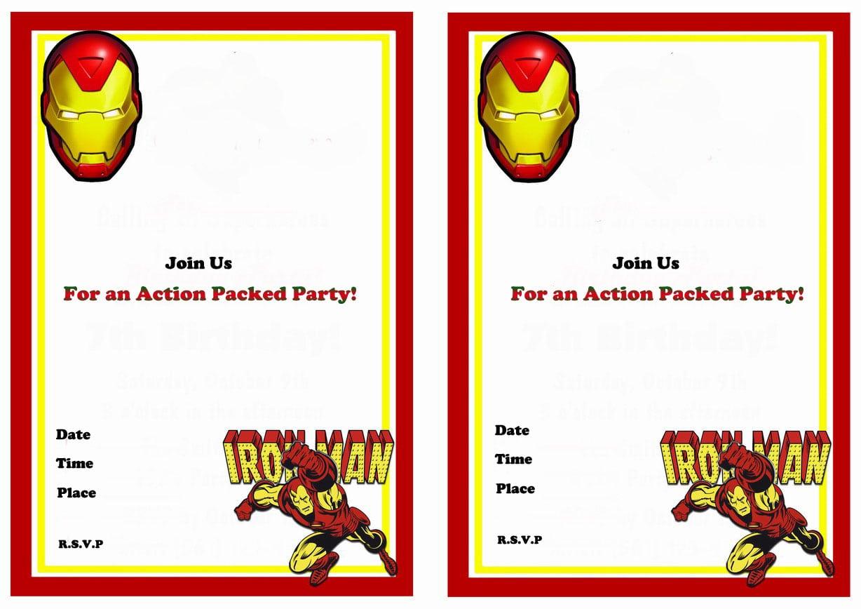 Iron Man Birthday Invitations – Birthday Printable