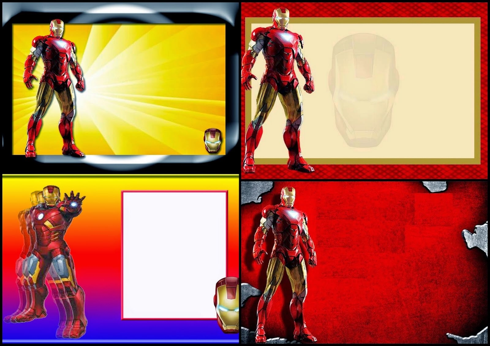 Iron Man Free Printable Invitations, Cards Or Photo Frames