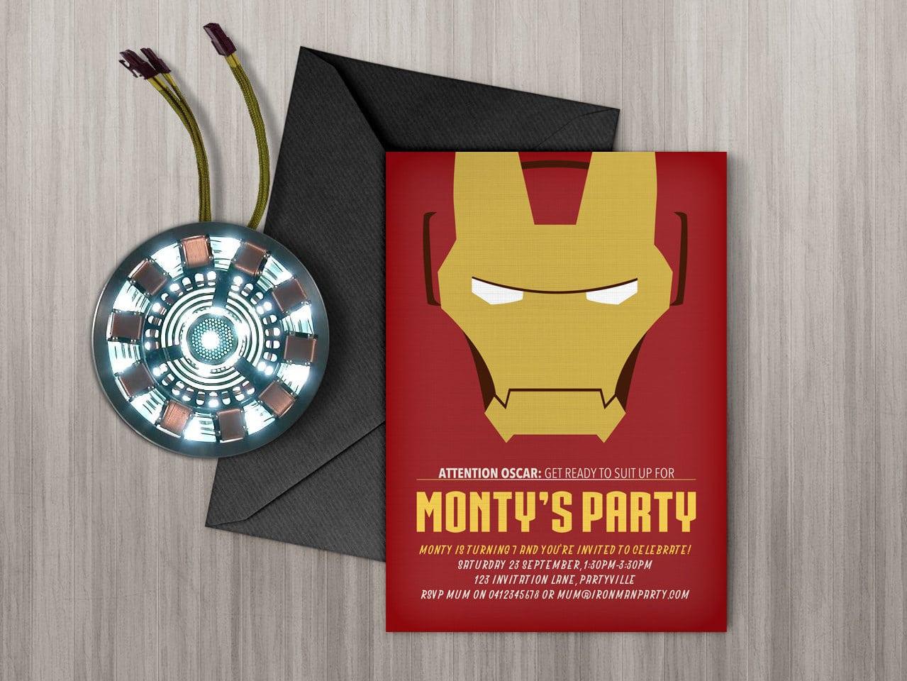 Iron Man Invitation Printable Edit & Print As Many Copies