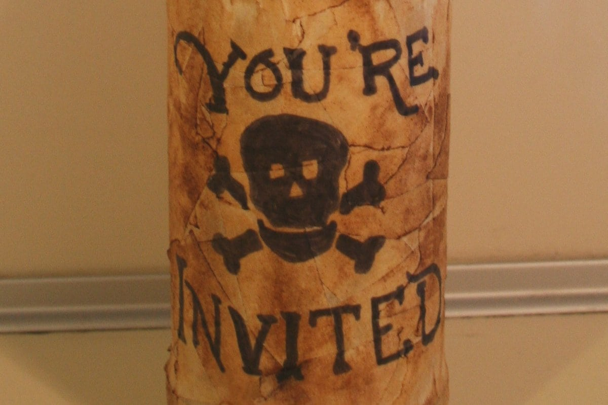 Pirate Party Invitations In A Bottle