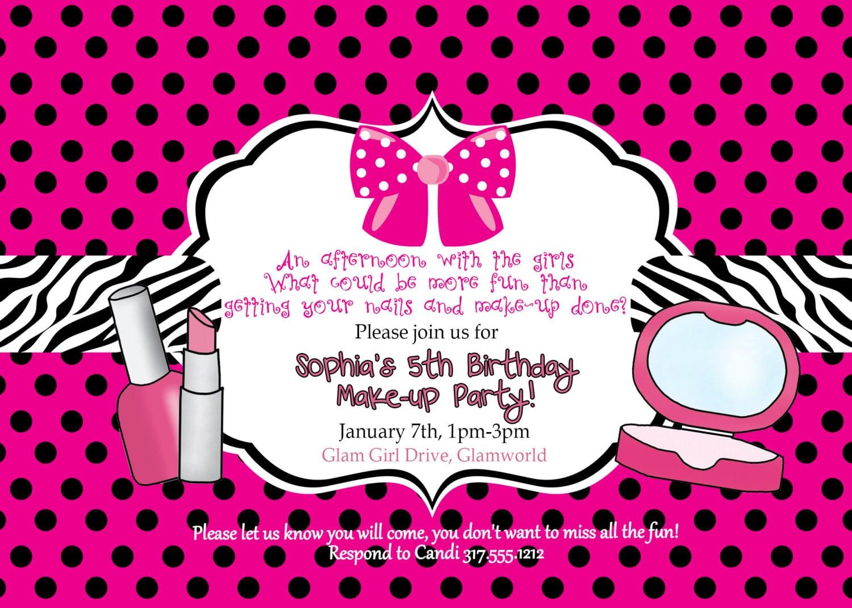 Beauty Party Invitations