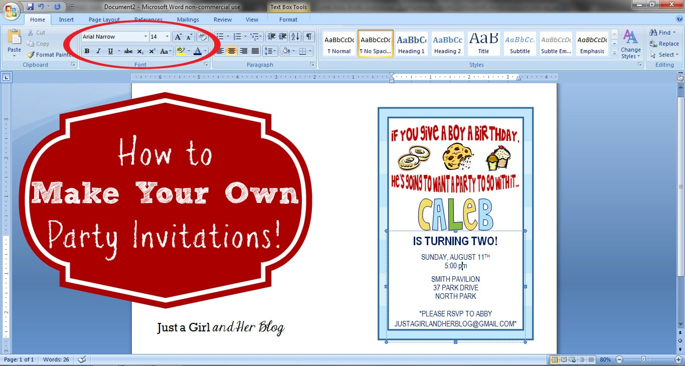 Making Party Invitations