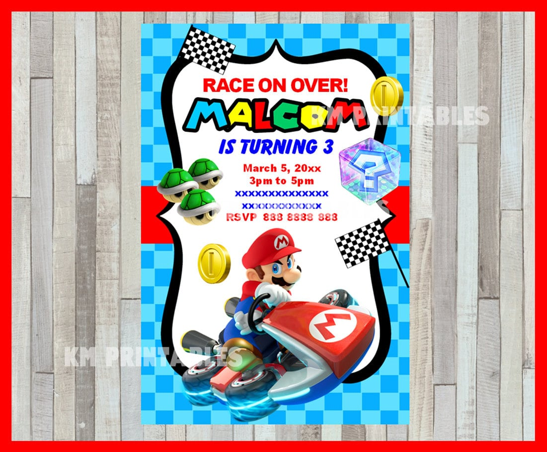 Blog mickey mouse invitations templates mario kart party invitations monicamarmolfo Gallery