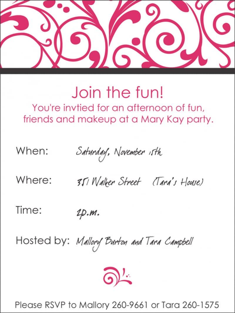 Mary Kay Party Invitations – Gangcraft Net