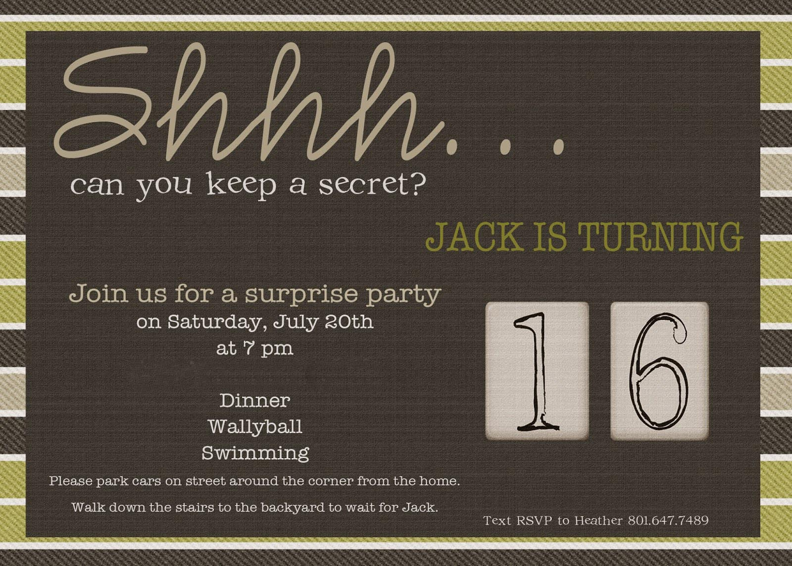 Mens Party Invitations Gallery