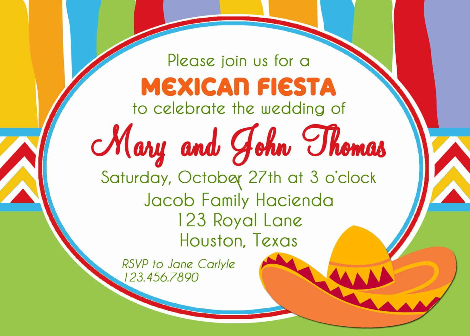 Mexican Fiesta Party Invitation Printable Or Printed With Free
