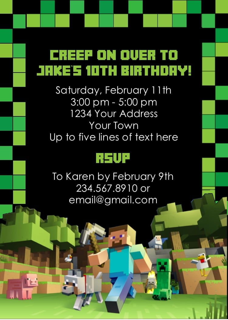 Minecraft Party Game