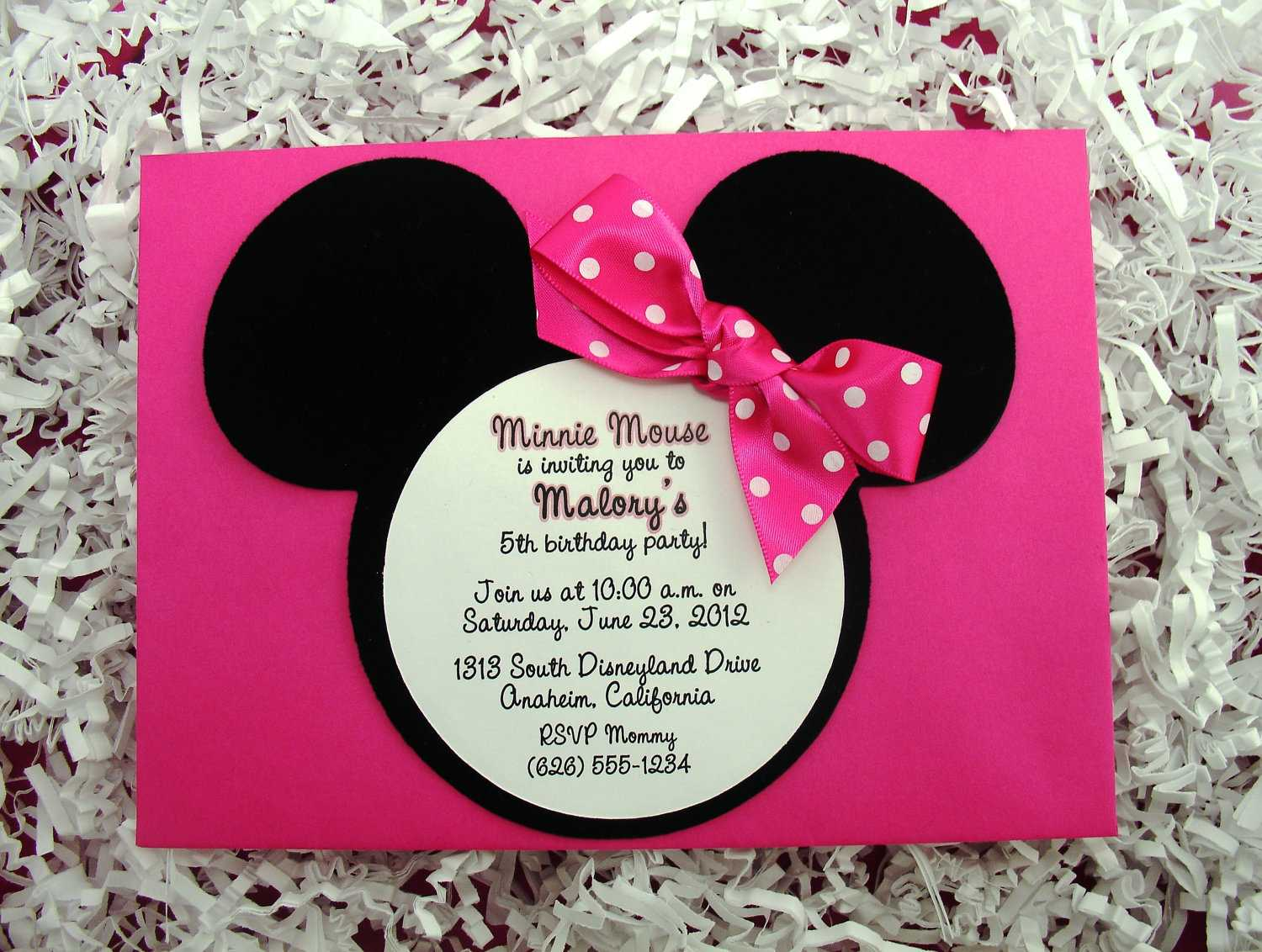 Minnie Mouse Party Invitations Minnie Mouse Party Invitations